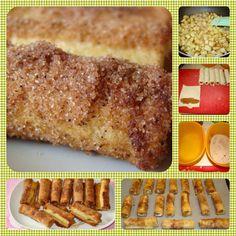 Μηλοπιτάκια ρολάκια Banana Bread, French Toast, Breakfast, Desserts, Food, Morning Coffee, Tailgate Desserts, Deserts, Essen