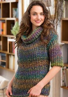 cowl neck slouchy sweater (free pattern) ... InTheLoopKnitting