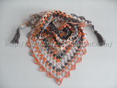 ELİMDEN GELENLER: Baharlık Fularlar Knit Or Crochet, Crochet Scarves, Crochet Shawl, Easy Knitting, Knitting Stitches, Bandana Scarf, Knit Wrap, Free Pattern, Crochet Necklace