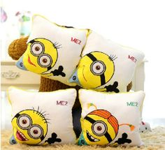 Loving these Despicable Me minion pillows. Mostly taken from the second movie, it looks like. Added to my page with other Despicable Me and minion bedding items.