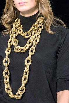 Marc Jacobs Crochet Chain Link Necklace!