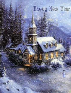 An Old Fashioned Christmas Church Vintage Christmas Images, Old Fashioned Christmas, Christmas Scenes, Christmas Past, Victorian Christmas, Christmas Pictures, Christmas Greetings, Winter Christmas, Christmas Postcards