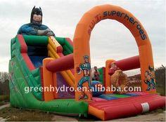Super Hero Inflatable Slide