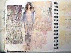 ♥  @AdelineLeeuw   lace floral Best Sketchbook, Sketchbook Layout, Textiles Sketchbook, Sketchbook Inspiration, Design Inspiration, Sketchbook Ideas, Fashion Inspiration, Fashion Portfolio Layout, Fashion Design Sketchbook