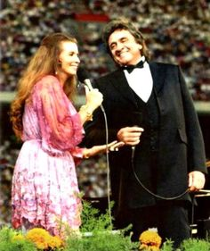 Johnny & June performing at a Billy Graham Crusade in the mid 1980's.  I want a love like Johnny and June's