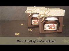 Mini Nutella Verpackung mit Produkten von Stampin`UP - YouTube
