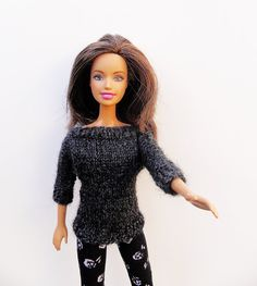 3/4 sleeves 1/6 doll sweater