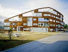 Brinken Terrace (Tromsø, Norway) by 70 N arkitektur - 200 mm pine facade
