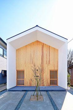 비움과 채움의 집 미니멀 박공지붕 주택 呼応する家 Architects : アマキカメラ Location : Japa...