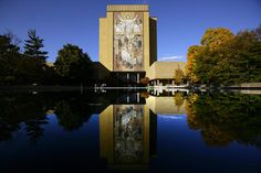 Library building at University of Notre Dame