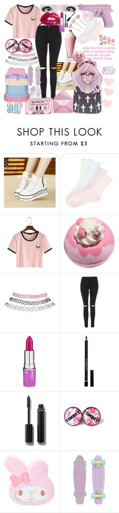 """Pastel pink ( ^ω^)"" by kawaiireborn ❤ liked on Polyvore featuring Bayo, Wet Seal, Topshop, Lime Crime, Givenchy, Chanel, Retrò and Agent Ninetynine"