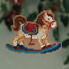 Mill Hill Rocking Horse Christmas Ornament Cross Stitch Kit