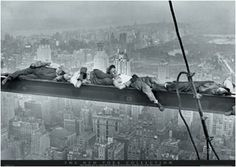 The photographs were taken in New York, on September 29th 1932,and published in the New York Herald Tribune in the Sundaysupplement of the Oct. 2nd of that year. It was taken on the 69 floor of the 70that is the GE building in the Rockefeller Center by Charles Ebbets.