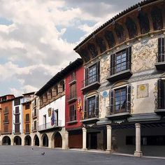 Main Square of Graus, Huesca, Spain