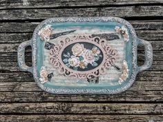 Altered tray, Victorian decor, altered serving tray, mix media art   #alteredtray #mixmedia #alteredart #victoriandecor