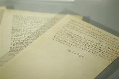 """Borges, lector de sí mismo: manuscritos detrás de la obra  Como su personaje, Borges tenía """"letra de insecto"""". Foto: LA NACION / Emiliano Lasalvia"""