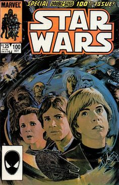 Marvel Comics of the 1980s: 1985 - Anatomy of a Cover - Star Wars #100 by Tom Palmer