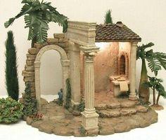 Christmas Crib Ideas, Christmas Decorations, Christmas Nativity Scene, Christmas Art, Nativity Scenes, Fontanini Nativity, Christmas In Italy, Garden Nook, Christmas Origami