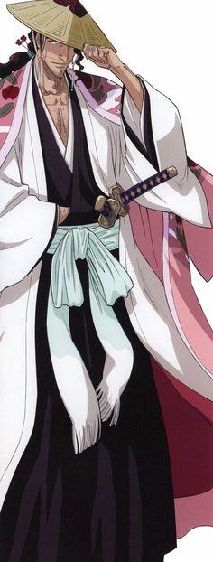 Shunsui Sōzōsuke Jirō Kyōraku (京楽 次郎 総蔵佐 春水, Kyōraku no Jirō Sōzōsuke Shunsui) is the captain of the 1st Division and Captain-Commander of the Gotei 13. His lieutenants are Nanao Ise and Genshirō Okikiba. He is the former captain of the 8th Division.