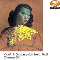 Vladimir Grigoryevich Tretchikoff was one of the most commercially successful artists of all time - his painting Chinese Girl is one of the best selling art prints of the twentieth century. Selling Art, Season Colors, Beautiful Artwork, Green And Purple, Art Girl, Color Pop, Contemporary Art