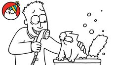 Simon's Cat In: Bathtime – Missing Cat Pt. Crazy Cat Lady, Crazy Cats, Cat Work, Cat Bath, Simons Cat, Right Meow, Funny Posters, Cat Character, French Language Lessons