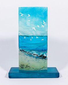 Fused Glass art Website - Beach Glass art For Kids - - - Abstract Fused Glass art - Broken Glass Art, Sea Glass Art, Glass Wall Art, Stained Glass Art, Glass Beach, Shattered Glass, Art Nouveau, Glass Art Pictures, Glass Art Design