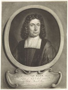 Jan Broedelet   Portret van Herman van Halen, Jan Broedelet, Caspar Specht, 1690   Portret van Herman van Halen, predikant en professor theologie te Utrecht. In een cartouche zijn naam en titels.
