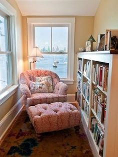 Reading Nook, great idea for that small place in the attic by babegotback