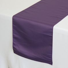 Purple Lamour Satin Table Runner  Wedding Table by YourChairCovers