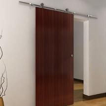 Modern Set of Barn Door Hardware For Sliding Door. Door Handle (for thick wood door). Made from high quality 304 stainless steel with the capacity of supporting up to 200 lbs. Sliding Room Doors, Sliding Door Hardware, Steel Barns, Wardrobe Doors, Closet Doors, Folding Doors, Interior Barn Doors, Wood Doors, Barn Wood