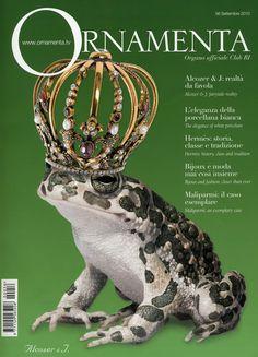 """La prestigiosa rivista di settore orafo """"Ornamenta"""" ha pubblicato sulla copertina del numero di settembre la nostra immagine pubblicitaria realizzata per la campagna 2010 per Alcozer & J."""