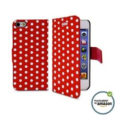 iPhone 5 Wallet Case with Unique Dot Folio Design and soft microfiber inside for Apple iPhone 5 and iPhone 5S with free cleaner (RED) IPHONECASES.ME http://www.amazon.com/dp/B00HM9W1TU/ref=cm_sw_r_pi_dp_Y0Xwub136WSBQ