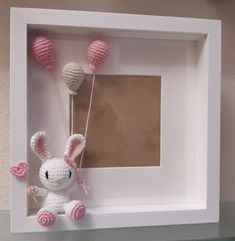 Pin on cadre photo Pin on cadre photo Crochet Wall Art, Crochet Box, Crochet Amigurumi, Crochet Bunny, Crochet Gifts, Crochet Animals, Crochet Dolls, Baby Crafts, Diy And Crafts