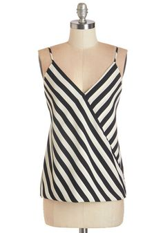 My Stripe of Gal Top. If youre the kind of lady to whom edgy, chic, and comfortable style appeals, the stripes, surplice detail, and draping silhouette of this strappy tank will surely strike your fancy.  #modcloth