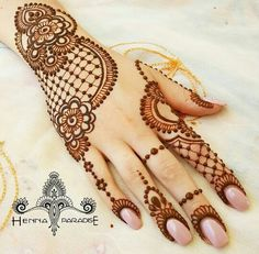 Henna Tattoo Designs Images - 100 Wedding Henna Designs on Hand for Brides. this is the best henna tattoo images collection with various pattern Henna Hand Designs, Eid Mehndi Designs, Wedding Henna Designs, Modern Mehndi Designs, Mehndi Patterns, Mehndi Design Pictures, Beautiful Mehndi Design, Latest Mehndi Designs, Mehndi Designs For Hands