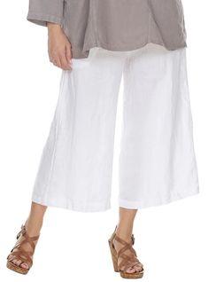 La Fixsun Cropped Wide Leg Pants in Denim – Lori's Lovelies Womens Linen Clothing, Wide Leg Pants, Dress Pants, Dresses Online, Elastic Waist, Capri Pants, Tunic Tops, Plus Size, Denim