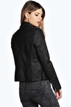 Torah Faux Leather Biker Jacket alternative image
