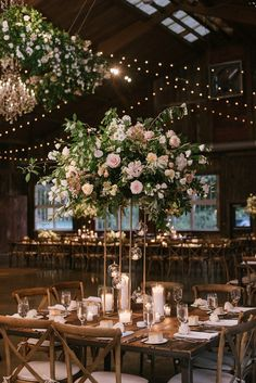 Kelly and Jordan's Flower Filled Boho Chic New York Wedding by Off BEET Productions and Faye Renee- Boho Weddings For the Boho Luxe Bride - Luxe Wedding, New York Wedding, Floral Wedding, Wedding Blog, Wedding Ideas, Tall Flower Centerpieces, Wedding Centerpieces, Bodas Boho Chic, Boho Wedding Dress With Sleeves
