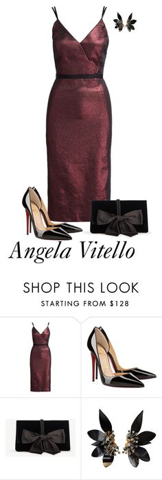 """""""Untitled #900"""" by angela-vitello on Polyvore featuring Cinq à Sept, Christian Louboutin, Ann Taylor and Marni"""
