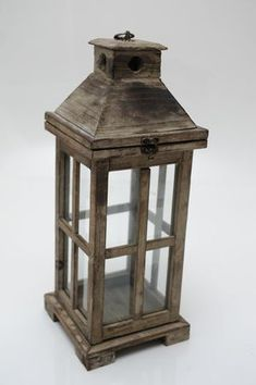 Hire Me! Small Rustic Wooden Lantern