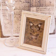 "diy Vintage Bild ""Papillon"""