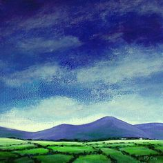 Clouds over Sugarloaf Mountain: Atmospheric oil Painting on canvas of clouds over the iconic Great Sugarloaf Mountain. The… #IrishArt