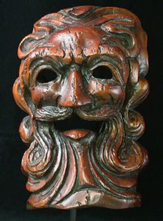 Decorative mask  Bavaria, Germany