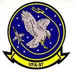 VFA-97 Warhawks Strike Fighter Squadron Nine-Seven.  CAG 11  Last duty station