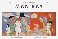 Man Ray's Art Procreate Brushes by Digi Life on @creativemarket Man Ray, Brushes, Family Guy, Watercolor, Baseball Cards, Life, Fictional Characters, Art, Pen And Wash