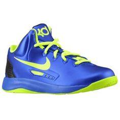 Nike KD V - Boys' Preschool - Hyper Blue/Volt/Blackened Blue