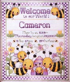 Bee Birth Sampler - Just Cross Stitch Mag