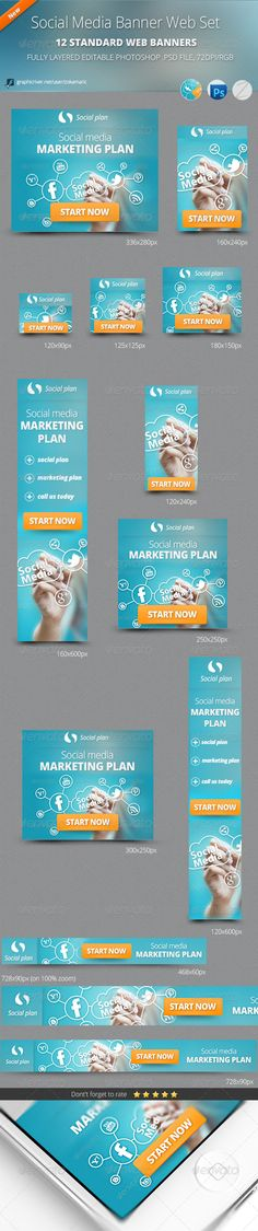 Social Media Banner Web Set