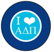 """Alpha Delta Pi Small 1.5"""" Heart Magnet from South Bound Sisters"""