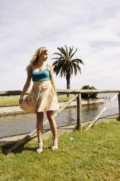 Fifties skirt/ Fantasy skirt/ Colourful by VanessaVanHandmade